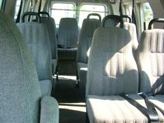 Very Comfortable 11 Passenger interior